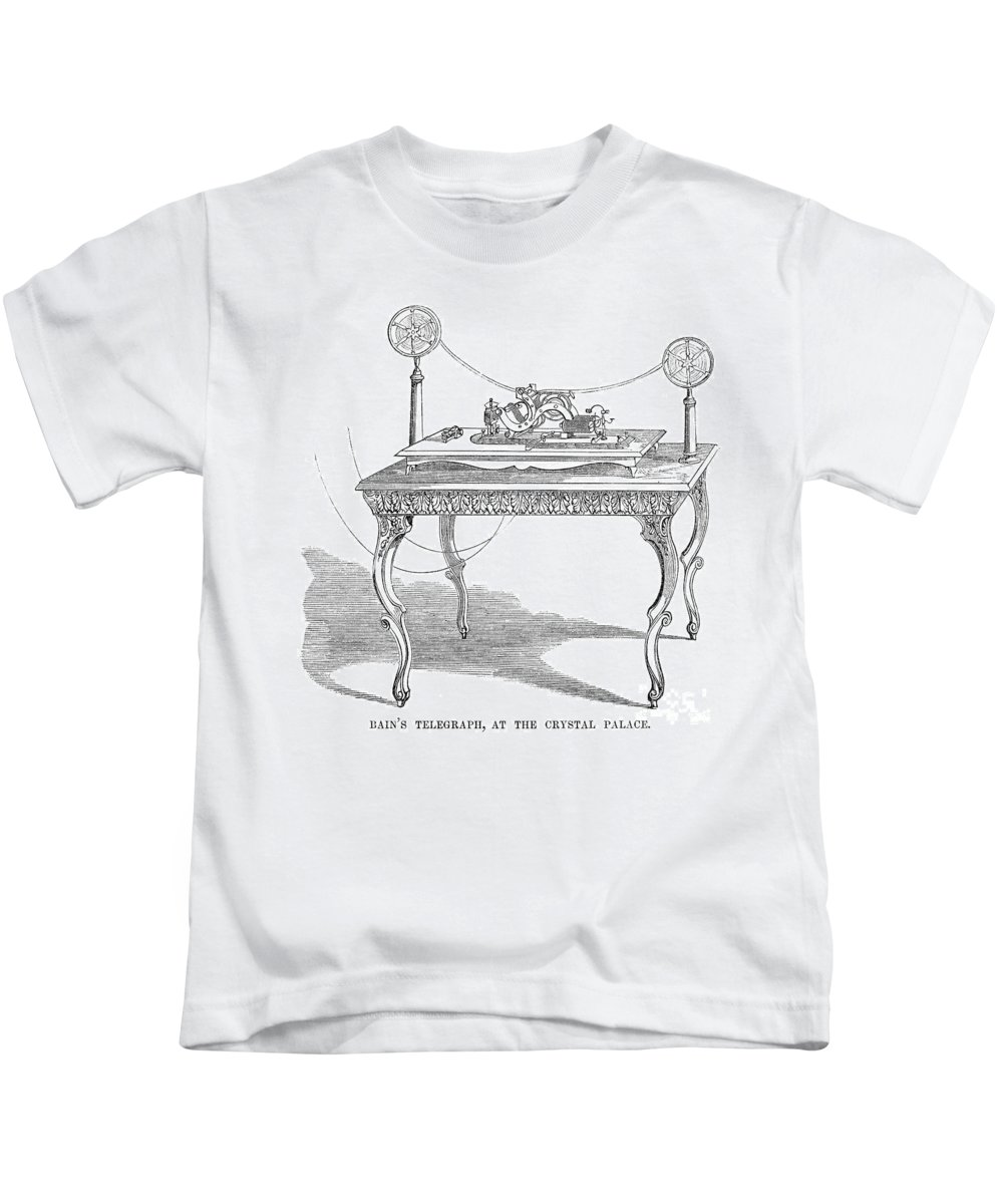 1854 Kids T-Shirt featuring the photograph Telegraph, 1854 by Granger