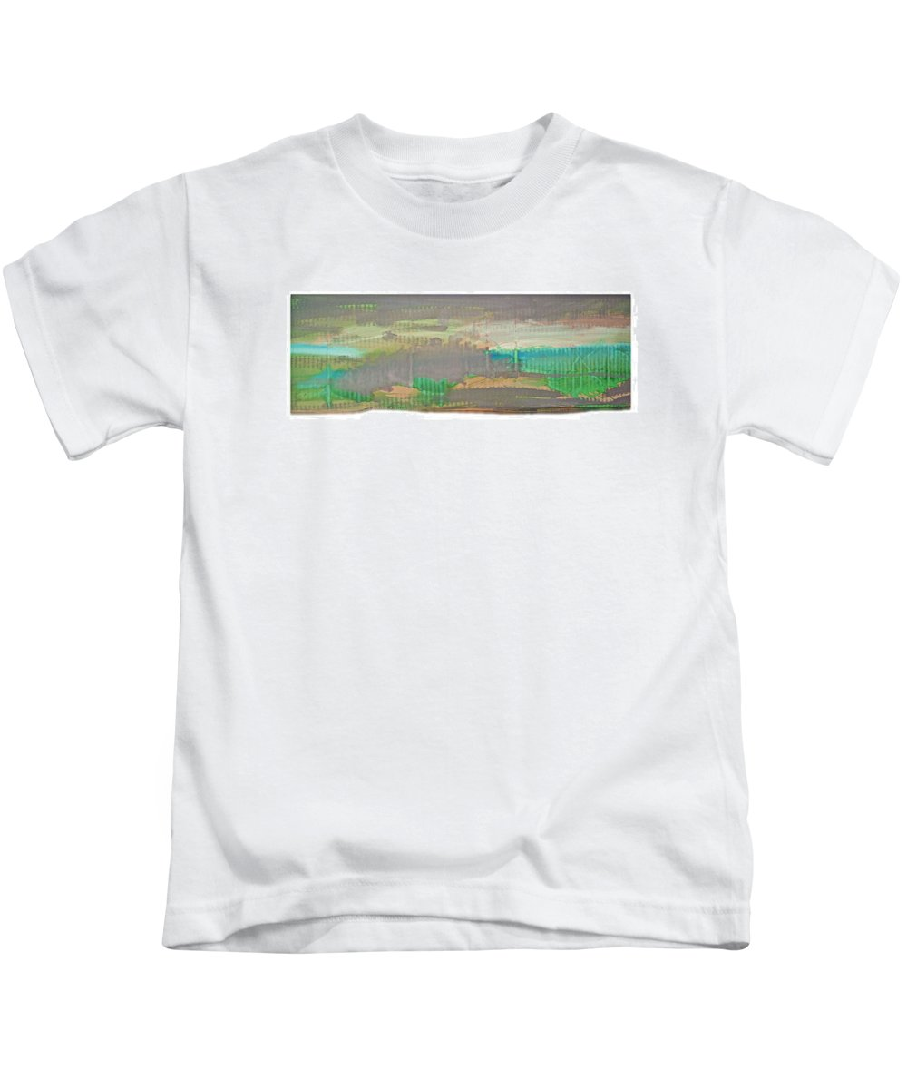 Tsunami Kids T-Shirt featuring the painting The Great Wave by Charles Stuart