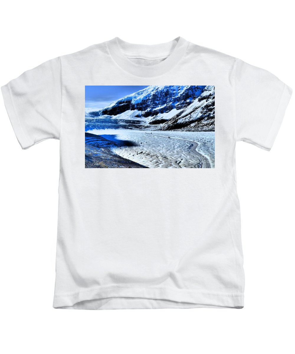 Ice Kids T-Shirt featuring the photograph The Ice Fields by Tara Turner