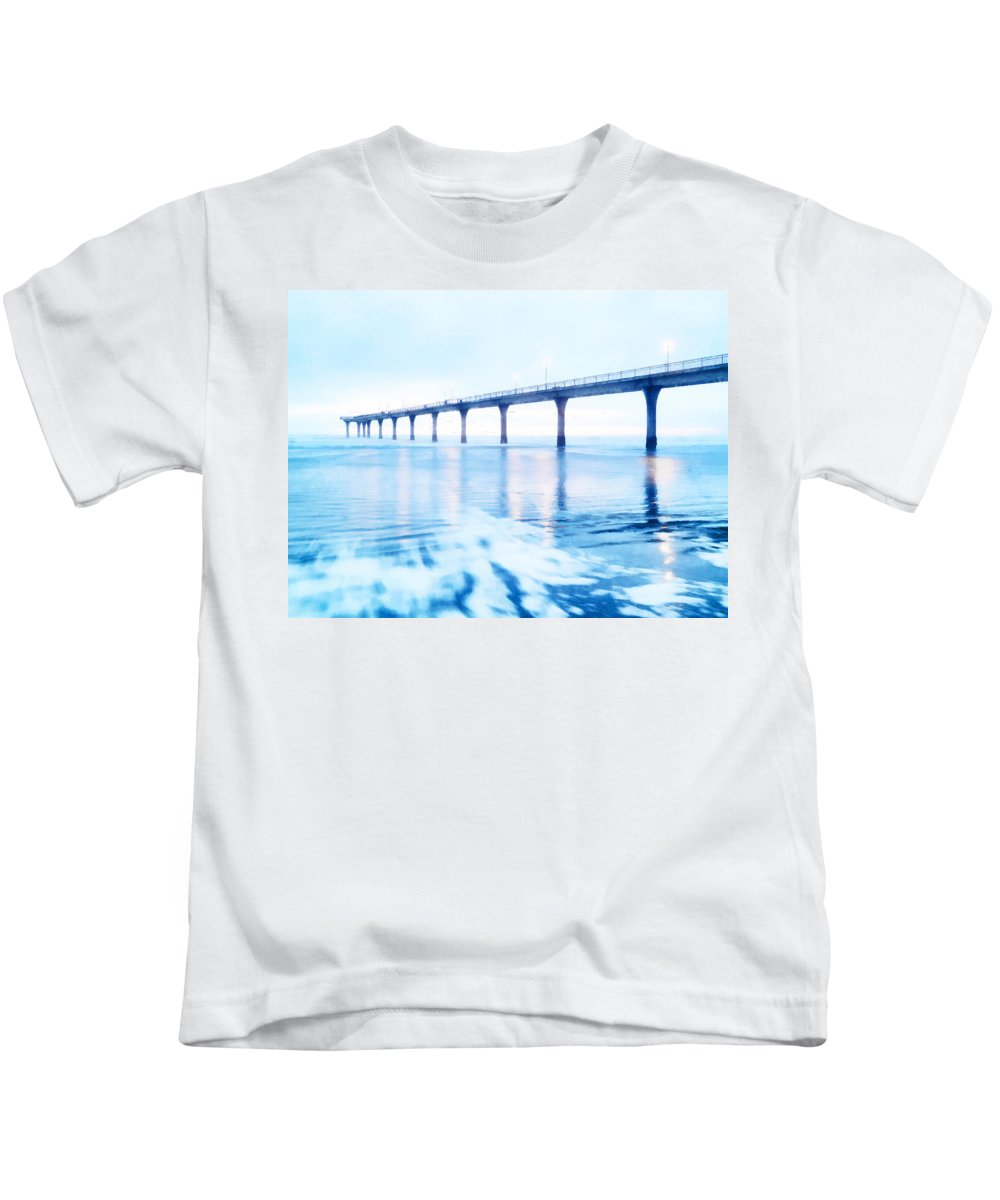 Sea Draws Me Kids T-Shirt featuring the photograph The Sea Draws Me In by Steve Taylor