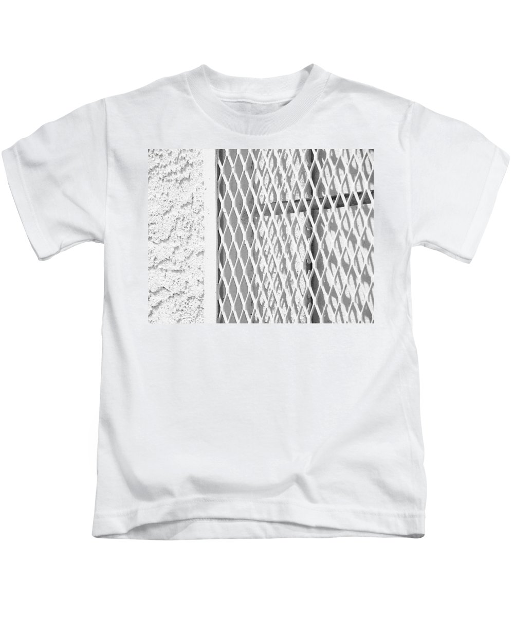 Abstract Kids T-Shirt featuring the photograph The Unexpected Cross by Lenore Senior
