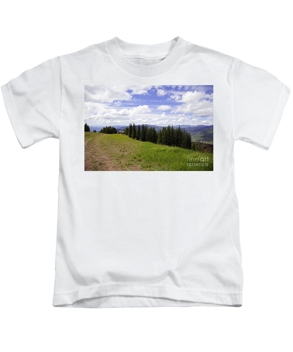 Landscape Kids T-Shirt featuring the photograph This Way To Eagle Nest - Vail by Madeline Ellis
