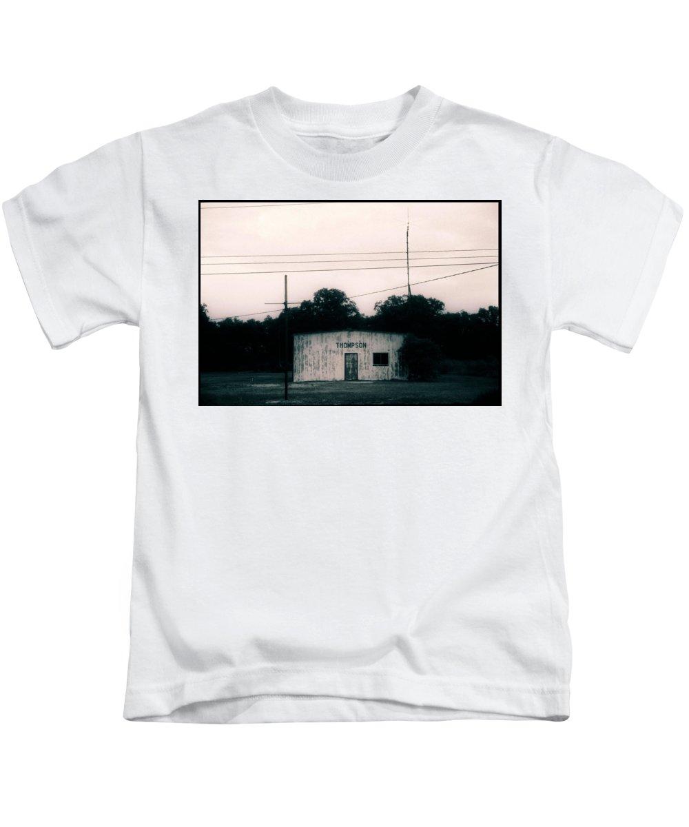 Louisiana Kids T-Shirt featuring the photograph Thompson- La Highway 80 by Doug Duffey