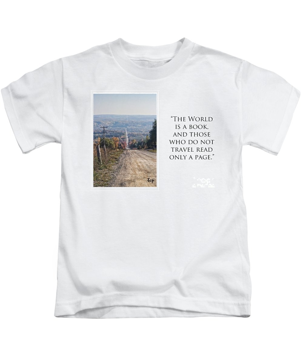 World Kids T-Shirt featuring the photograph Travel by Traci Cottingham