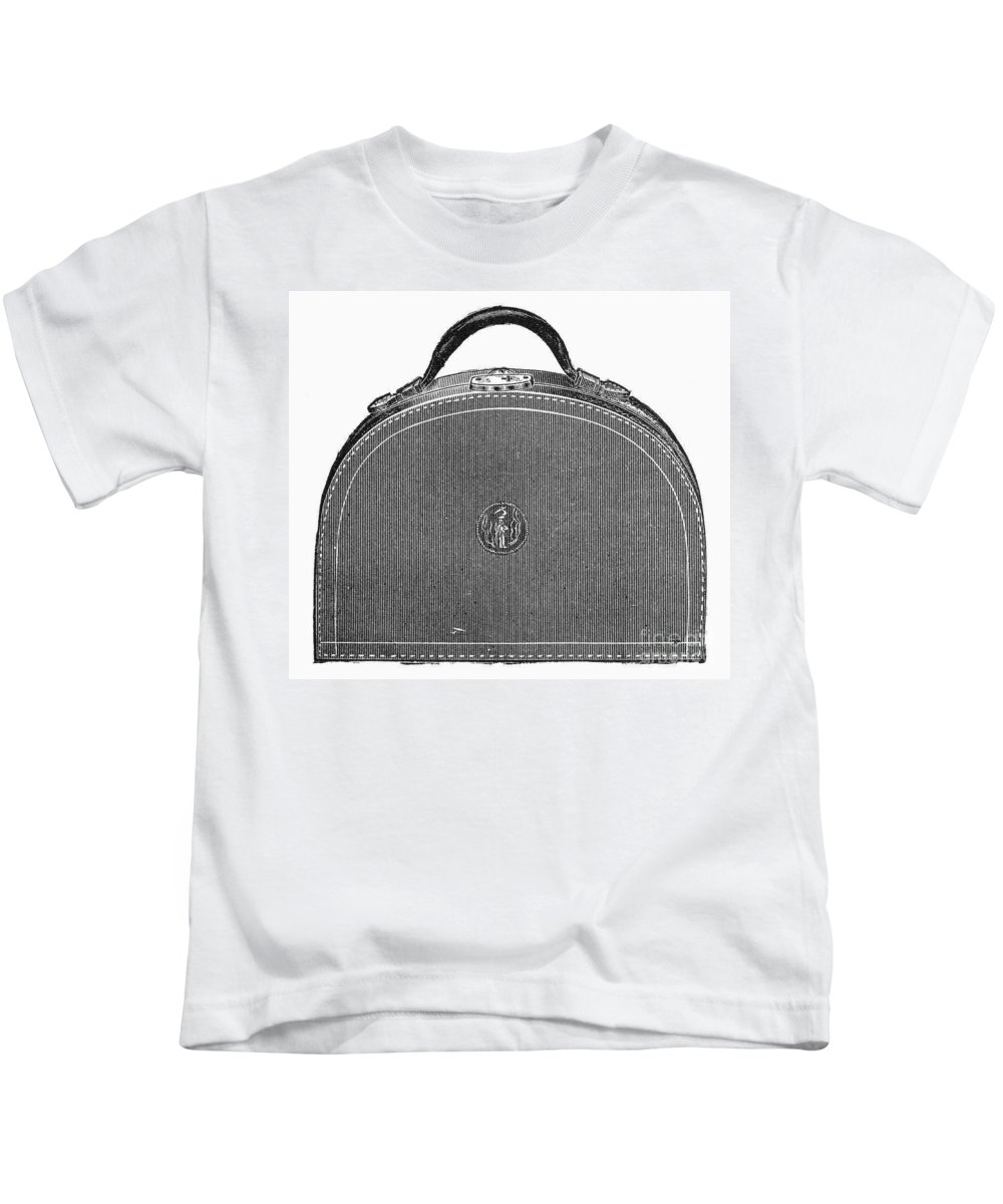 1889 Kids T-Shirt featuring the photograph Typewriter Case, 1889 by Granger