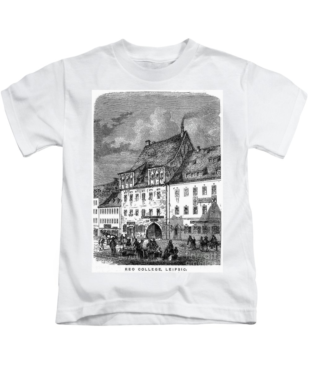 19th Century Kids T-Shirt featuring the photograph University Of Leipzig by Granger