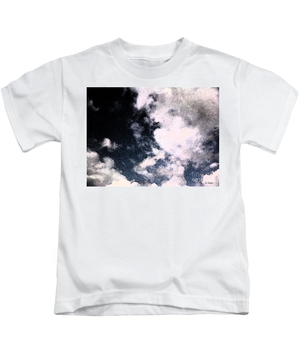 Plane Kids T-Shirt featuring the photograph Up In The Clouds 2 by George Pedro