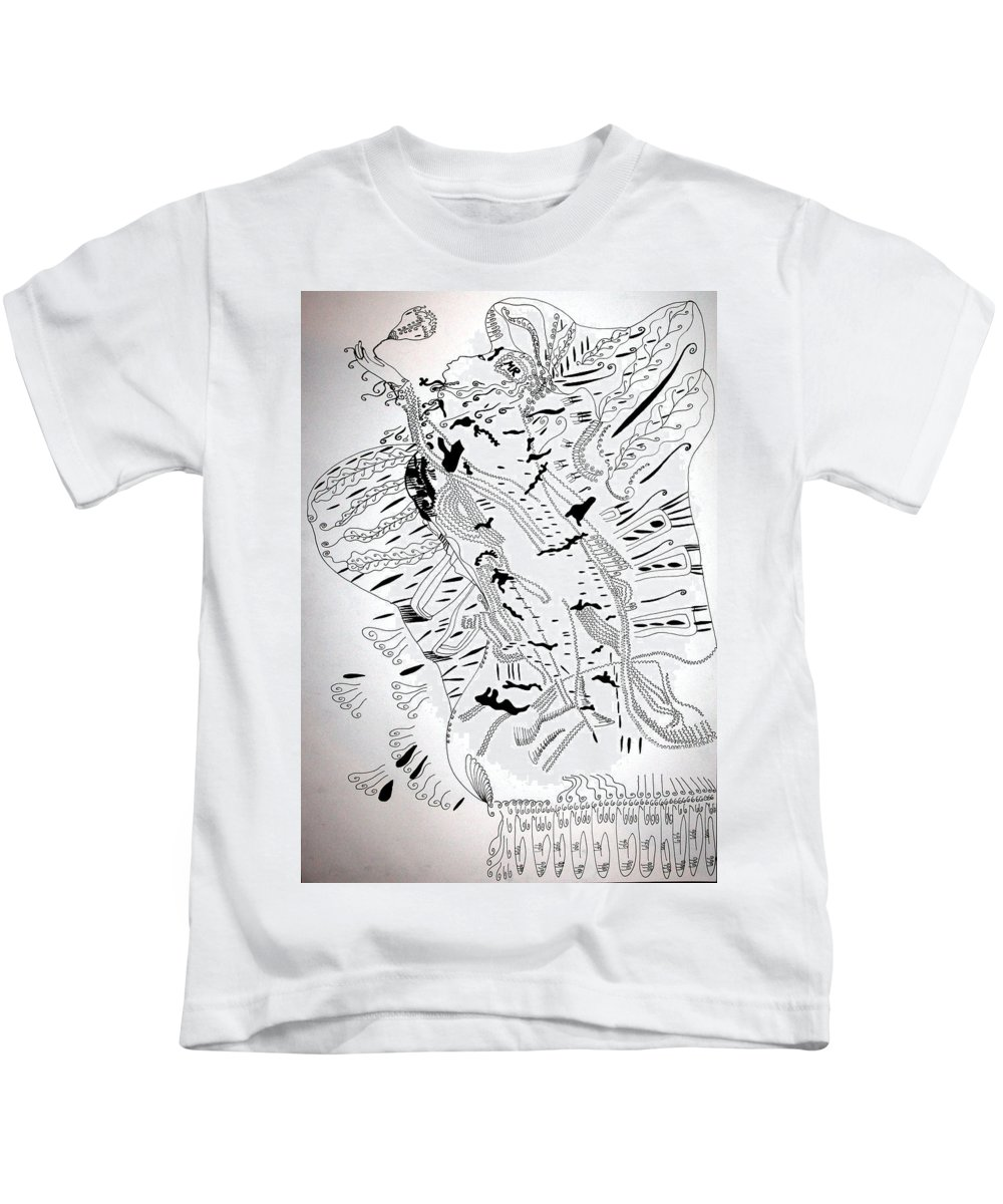 Jesus Kids T-Shirt featuring the drawing Venus - Mary - Star Of The Sea by Gloria Ssali