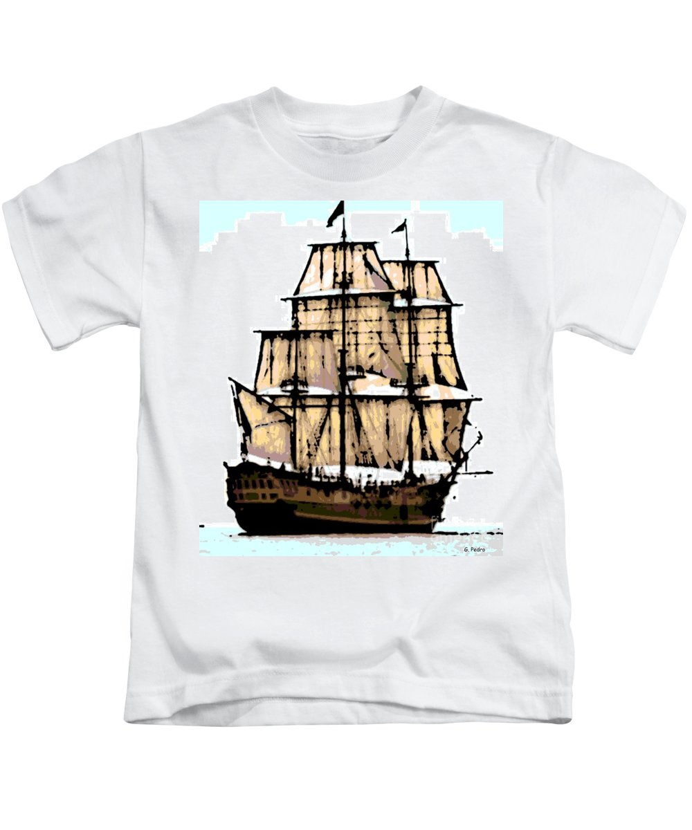 Boat Kids T-Shirt featuring the photograph Vintage Sails by George Pedro