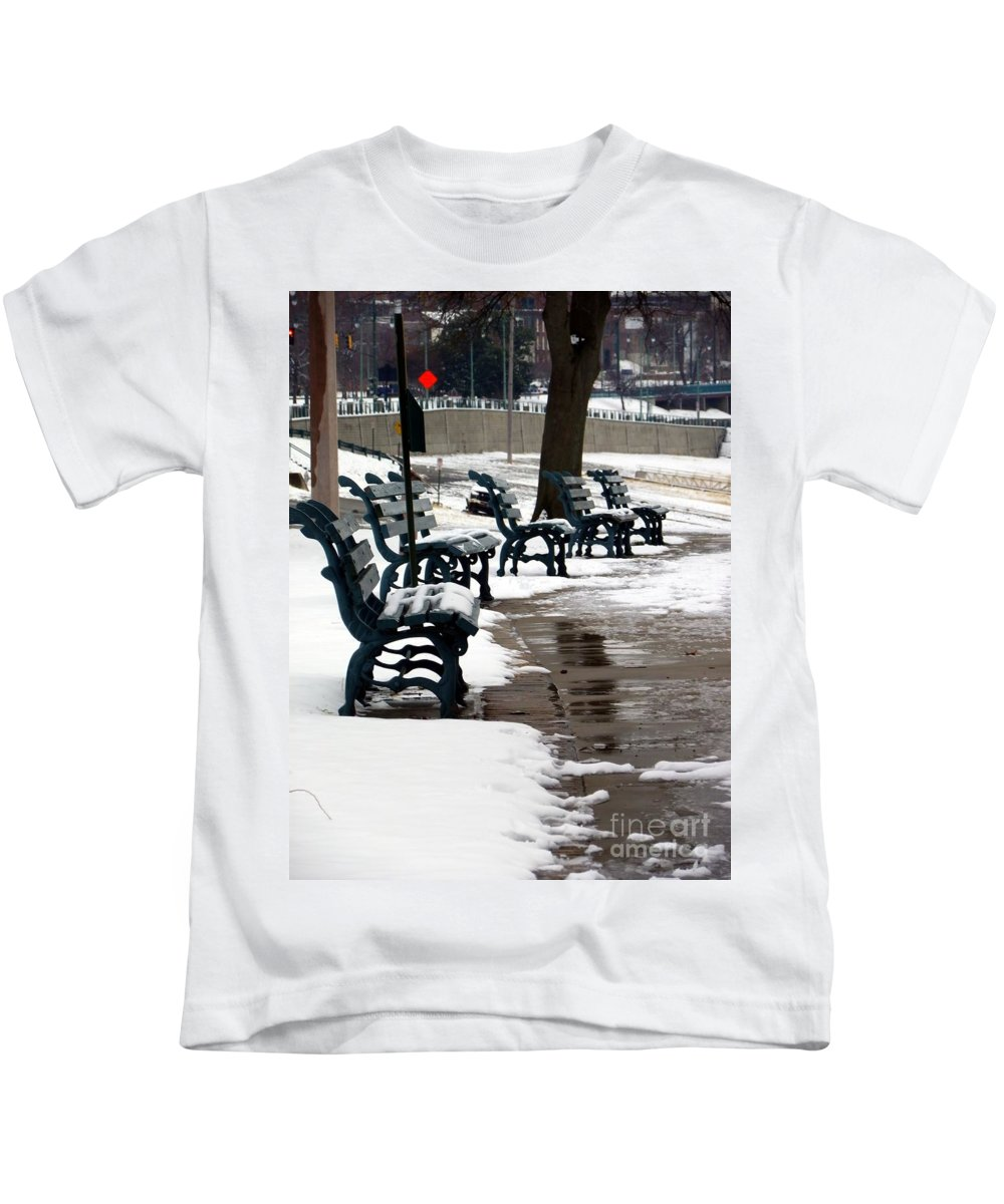 Outside Kids T-Shirt featuring the photograph Waiting For Clear Skies by Charleen Treasures