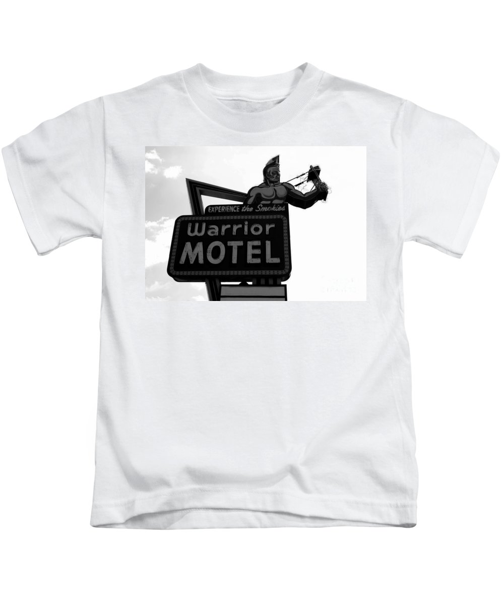 Warrior Motel Kids T-Shirt featuring the photograph Warrior Motel by David Lee Thompson