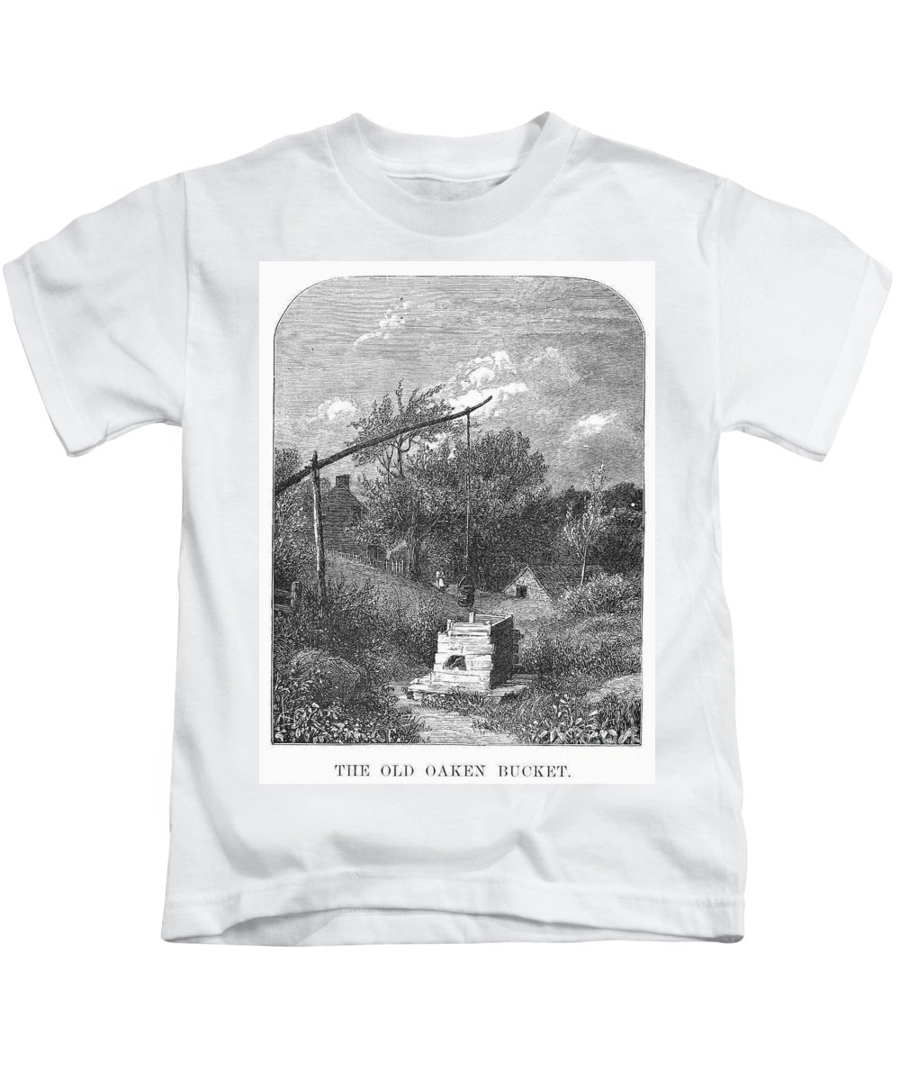1880 Kids T-Shirt featuring the photograph Water Well, C1880 by Granger