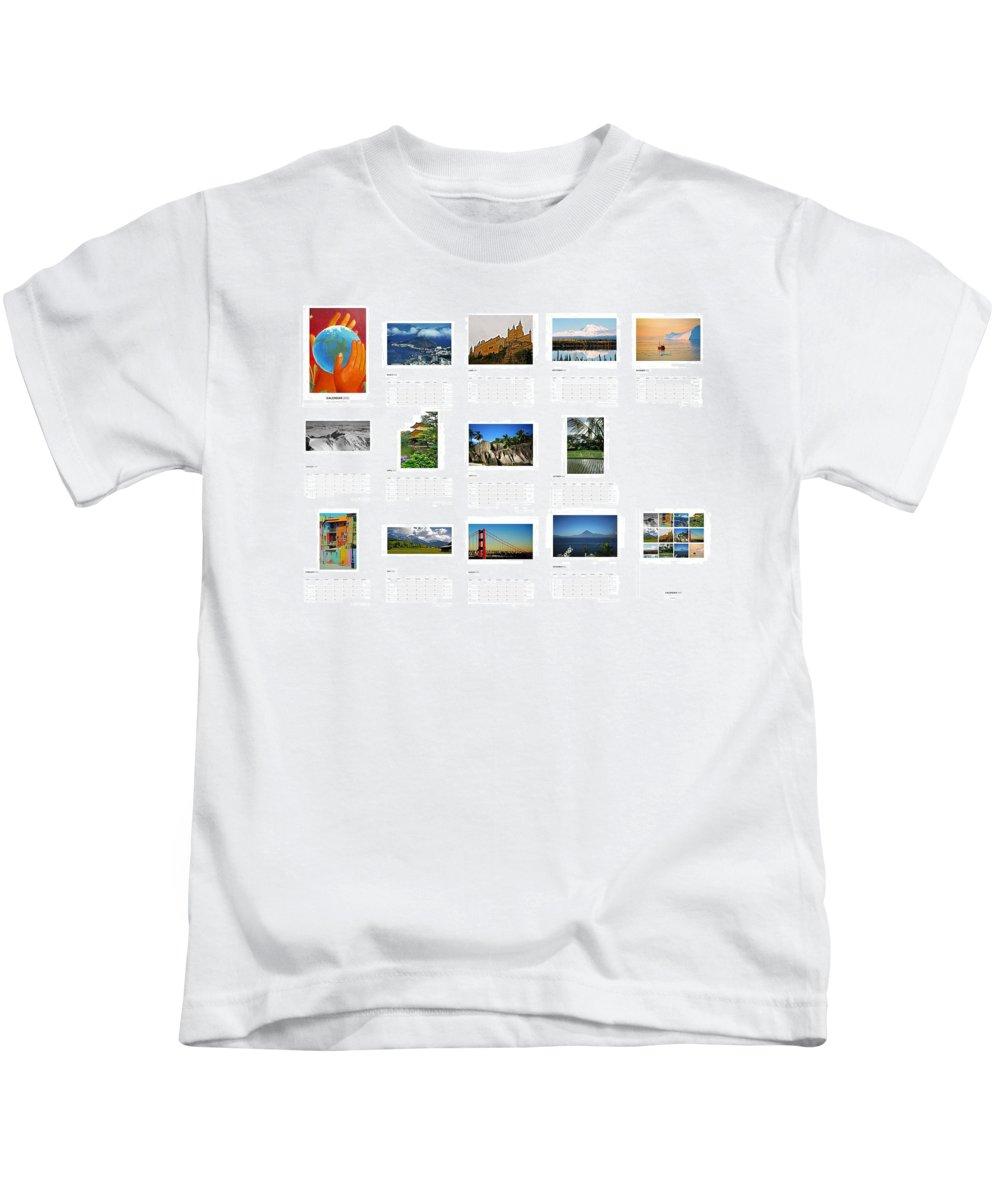 Calendar Kids T-Shirt featuring the photograph What A Wonderful World Calendar 2012 by Juergen Weiss