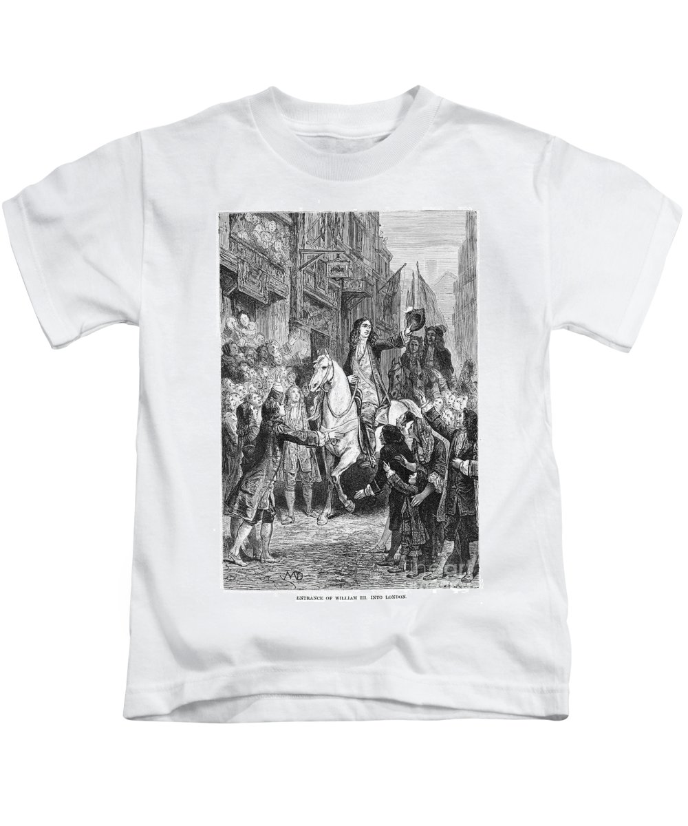 1688 Kids T-Shirt featuring the photograph William IIi Of England by Granger