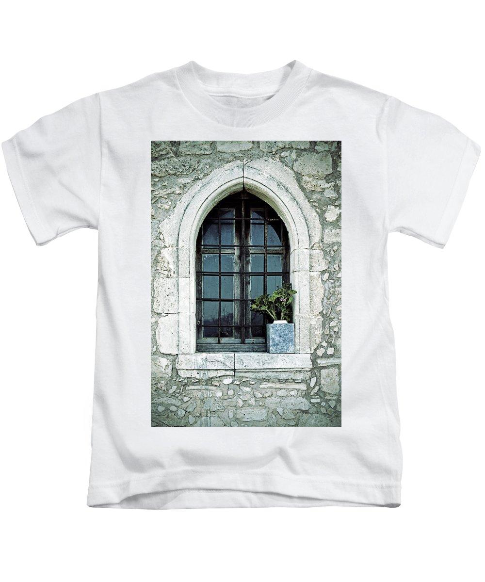 Windows Kids T-Shirt featuring the photograph Window Of A Chapel by Joana Kruse