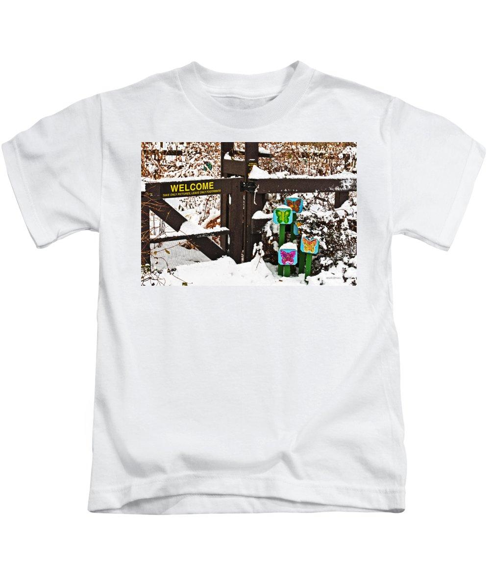 Winter Kids T-Shirt featuring the photograph Winter Butterflies by Edward Peterson