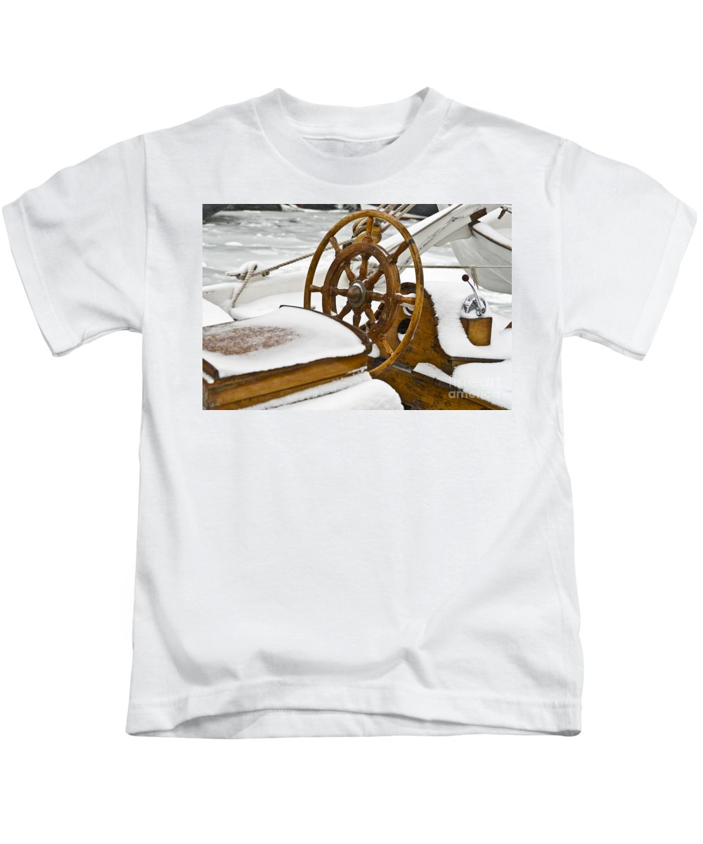 Europe Kids T-Shirt featuring the photograph Winter On Board by Heiko Koehrer-Wagner