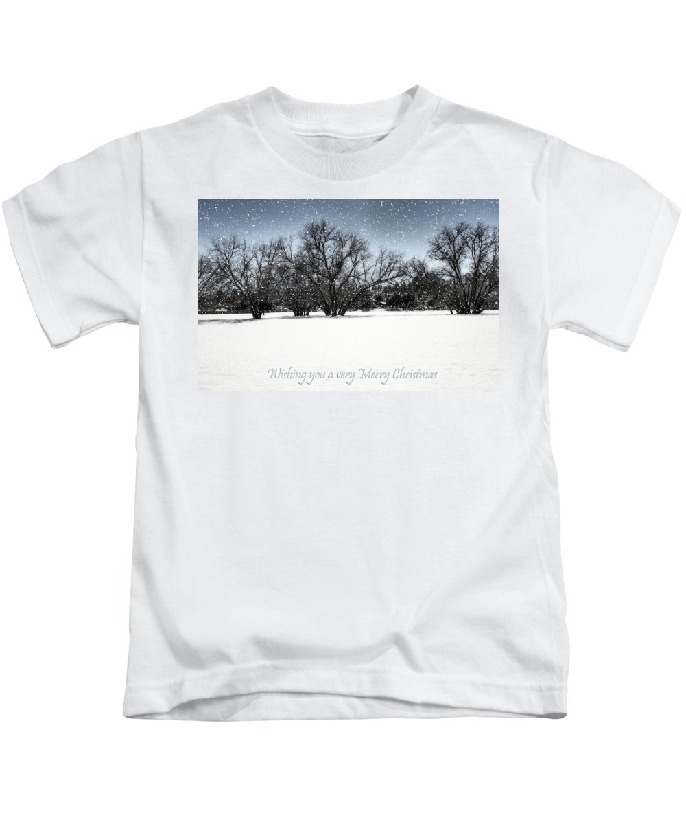 Merry Christmas Kids T-Shirt featuring the photograph Wishing You A Very Merry Christmas by Saija Lehtonen