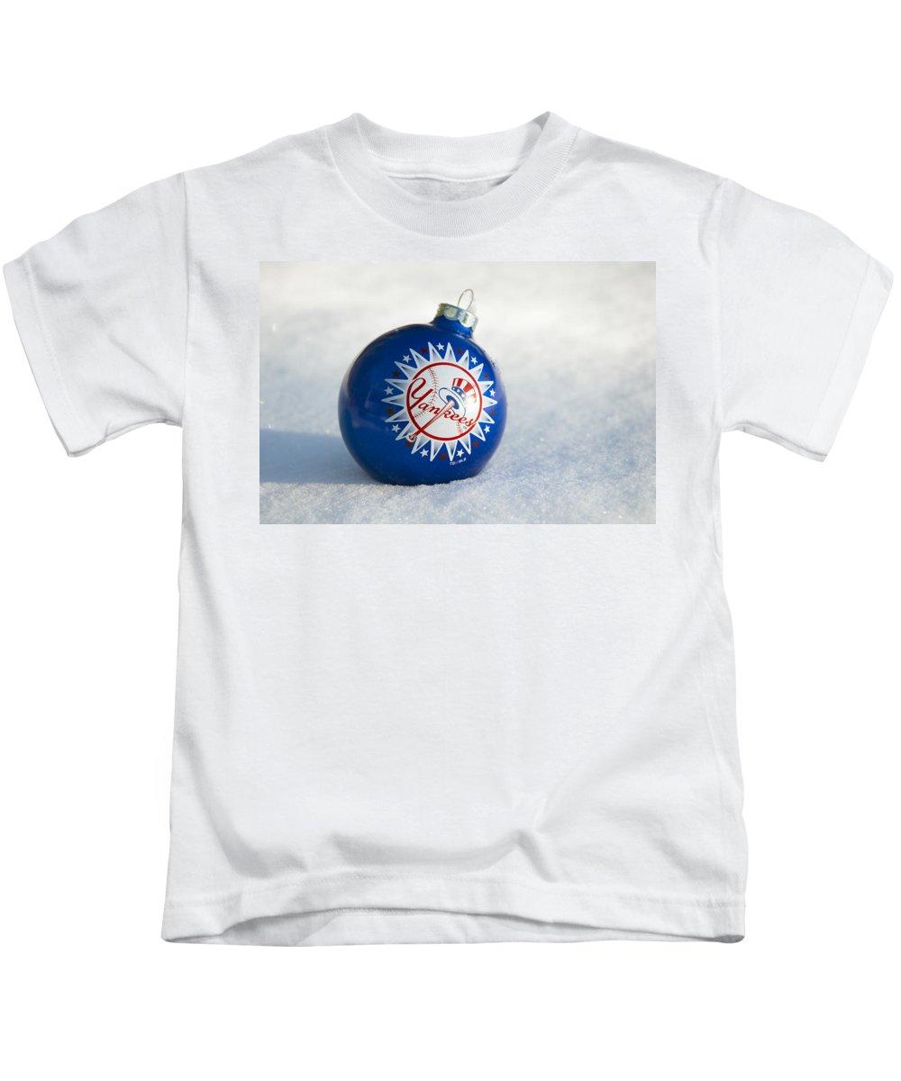 Yankees Kids T-Shirt featuring the photograph Yankees Ornament by Glenn Gordon