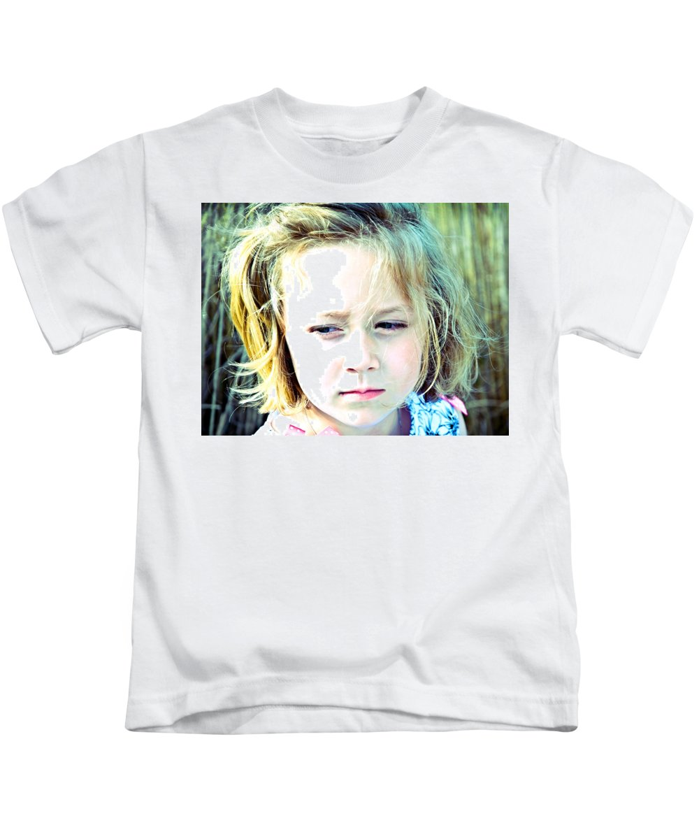 Young Kids T-Shirt featuring the photograph Young Girl's Expression by Susan Leggett