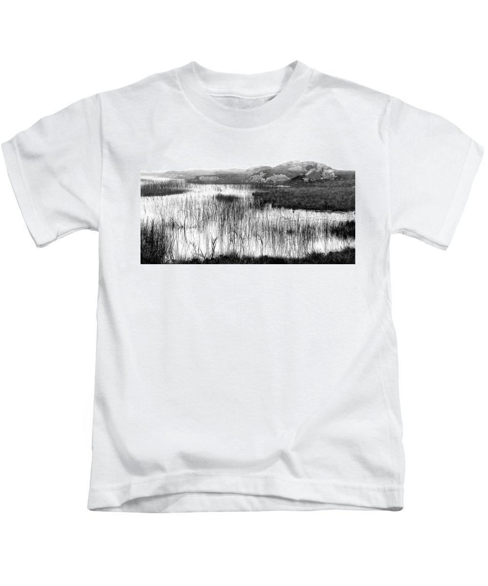 Bw Kids T-Shirt featuring the photograph Zen Pond In Ireland by David Resnikoff