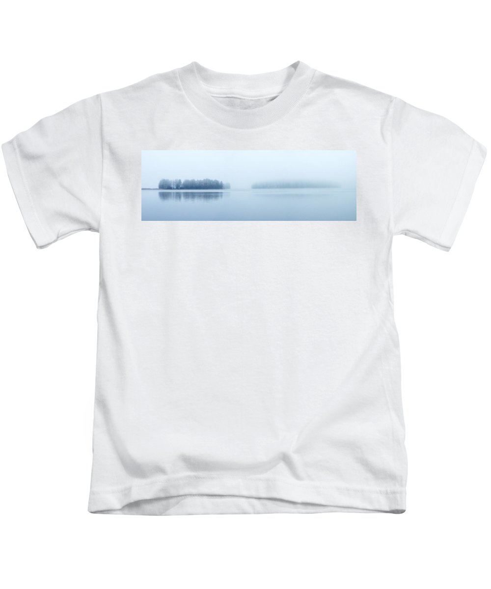 Järvi Lake Kids T-Shirt featuring the photograph Two Islands by Jouko Lehto