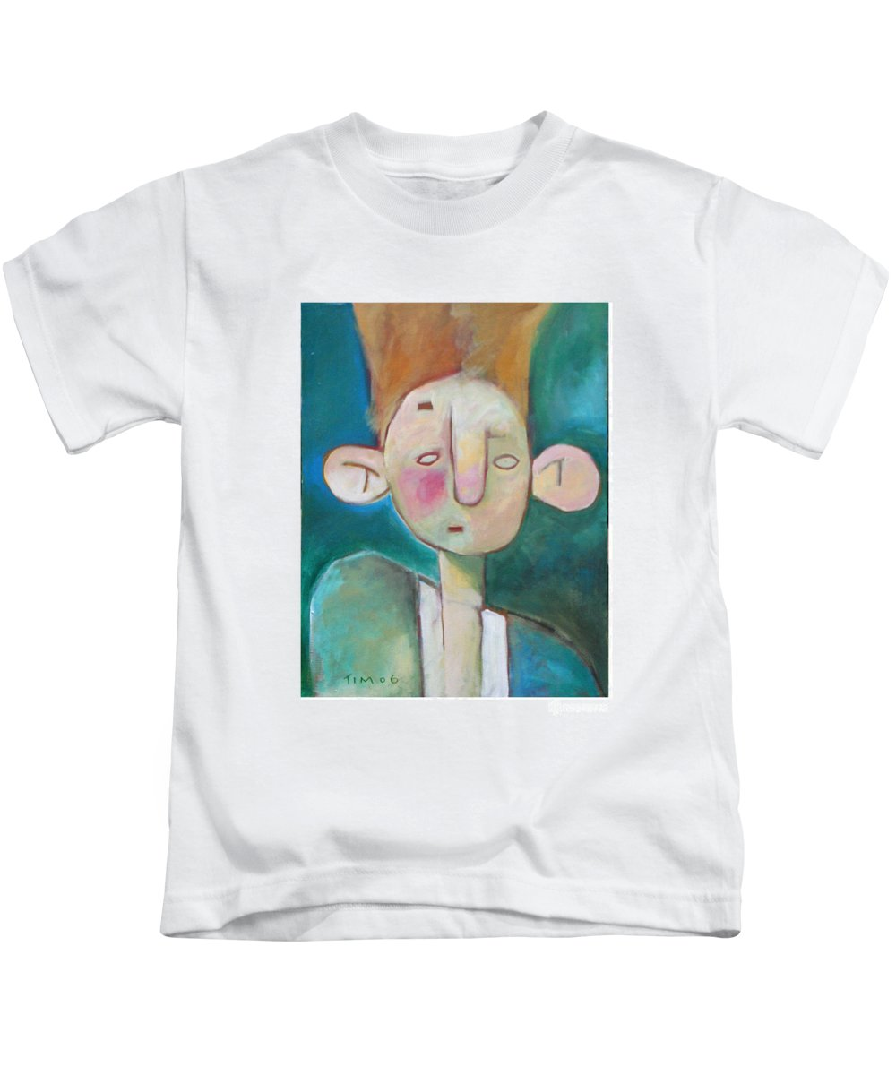 Funny Kids T-Shirt featuring the painting Bad Hair Life by Tim Nyberg