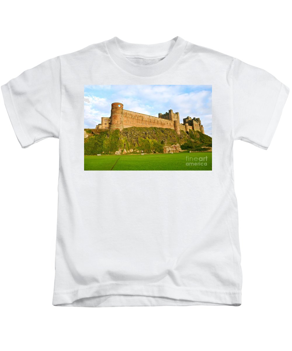 Bamburgh Castle Kids T-Shirt featuring the photograph Bamburgh Castle by Kayme Clark