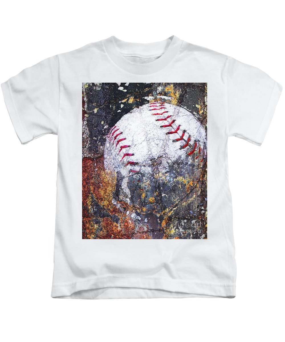 Kids T-Shirt featuring the digital art Baseball Art Version 6 by Takumi Park
