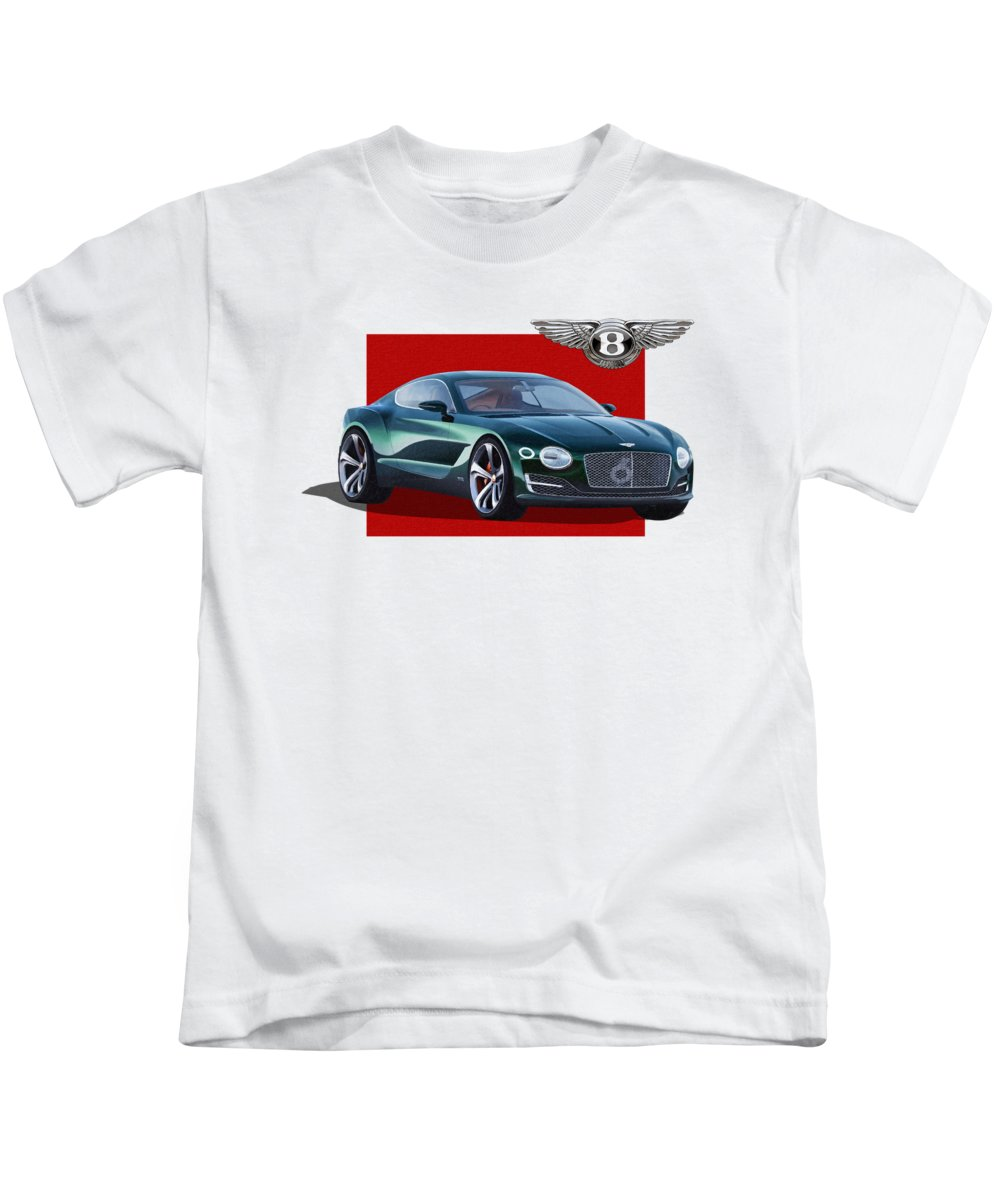 �bentley� Collection By Serge Averbukh Kids T-Shirt featuring the photograph Bentley E X P 10 Speed 6 with 3 D Badge by Serge Averbukh