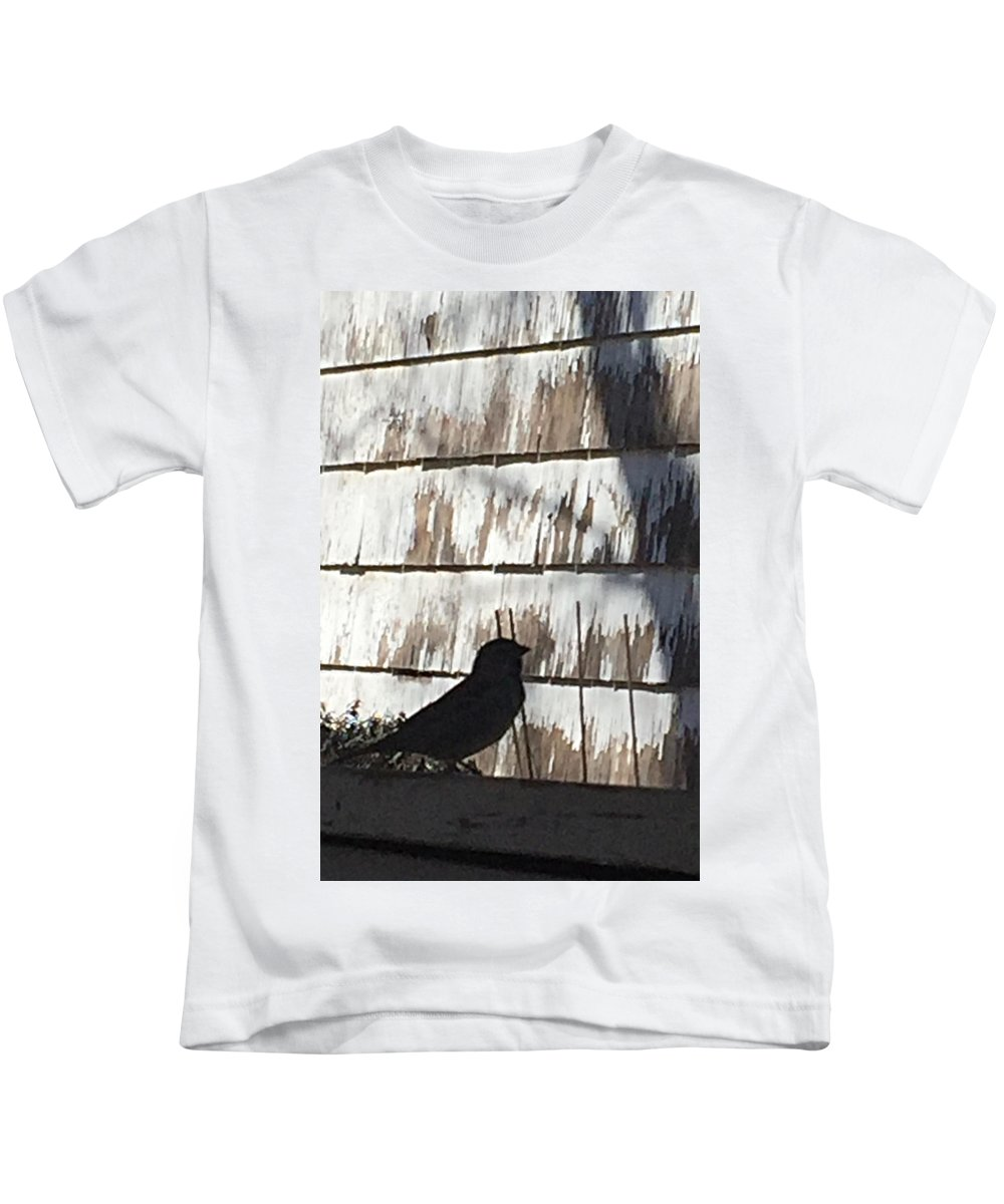 Bird Kids T-Shirt featuring the photograph Bird Silhouette by Lissa Merriman