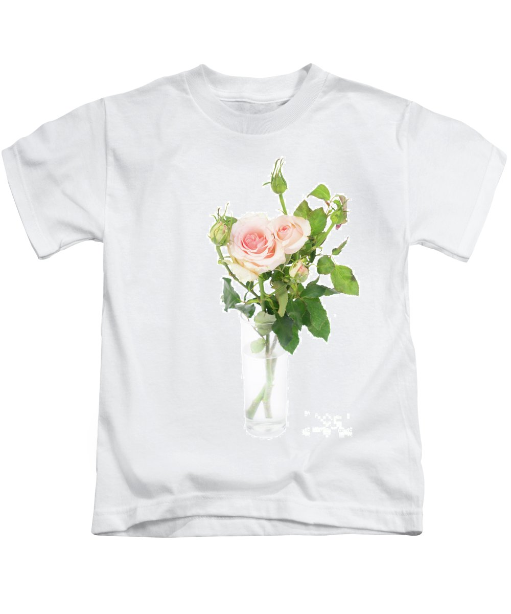 Rose Kids T-Shirt featuring the photograph Rose Twigs by Anastasy Yarmolovich