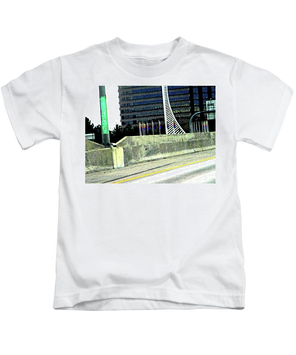 Abstract Kids T-Shirt featuring the photograph Denver Mile Marker by Lenore Senior