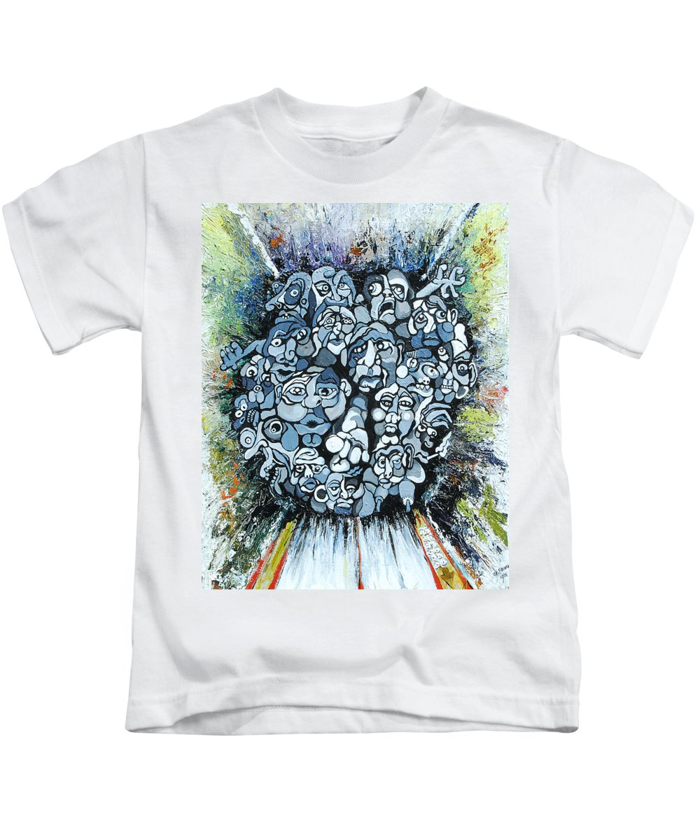Surreal Kids T-Shirt featuring the painting Elevator by Julie Fischer