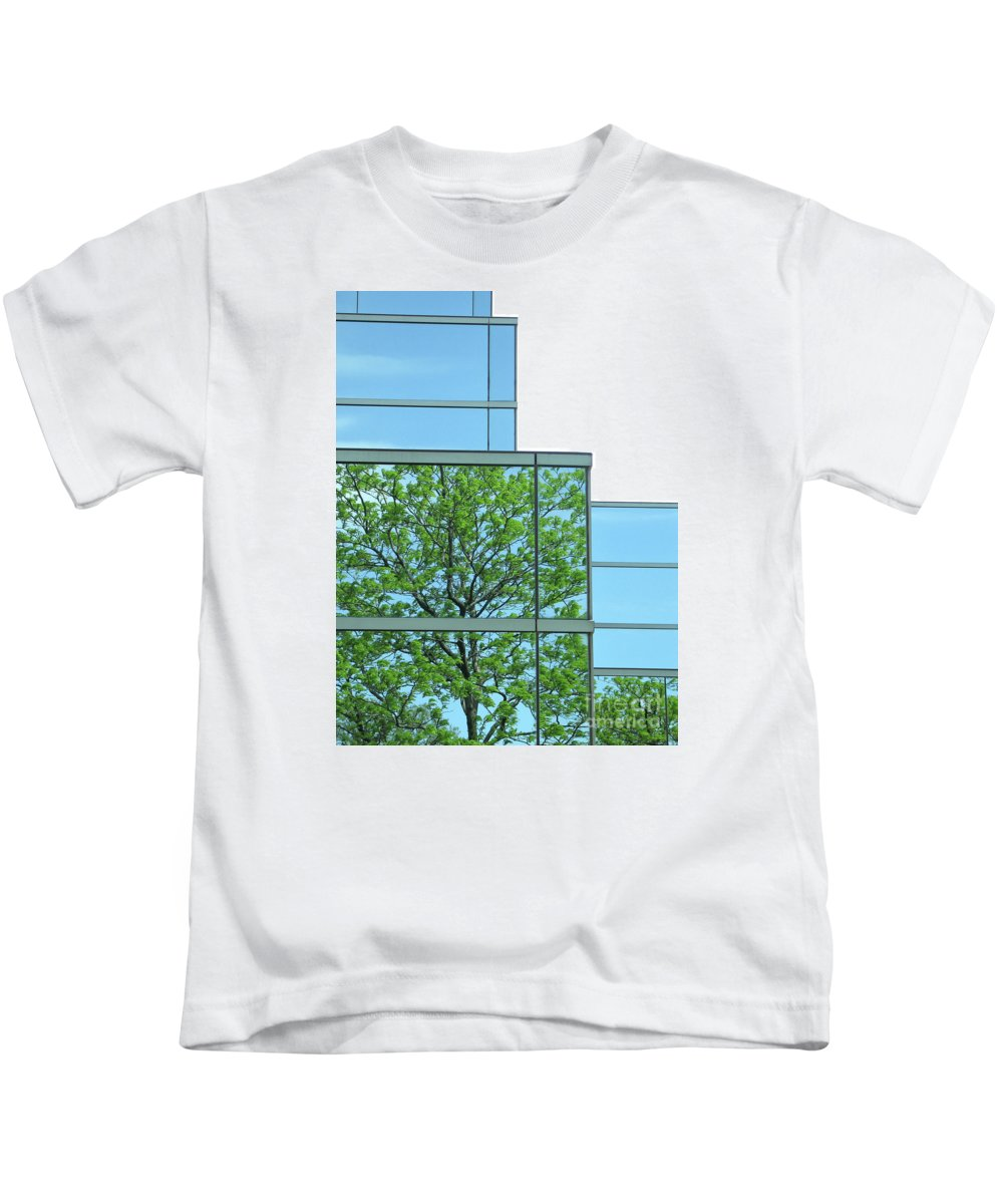 Trees Kids T-Shirt featuring the photograph Environment Reflected by Ann Horn
