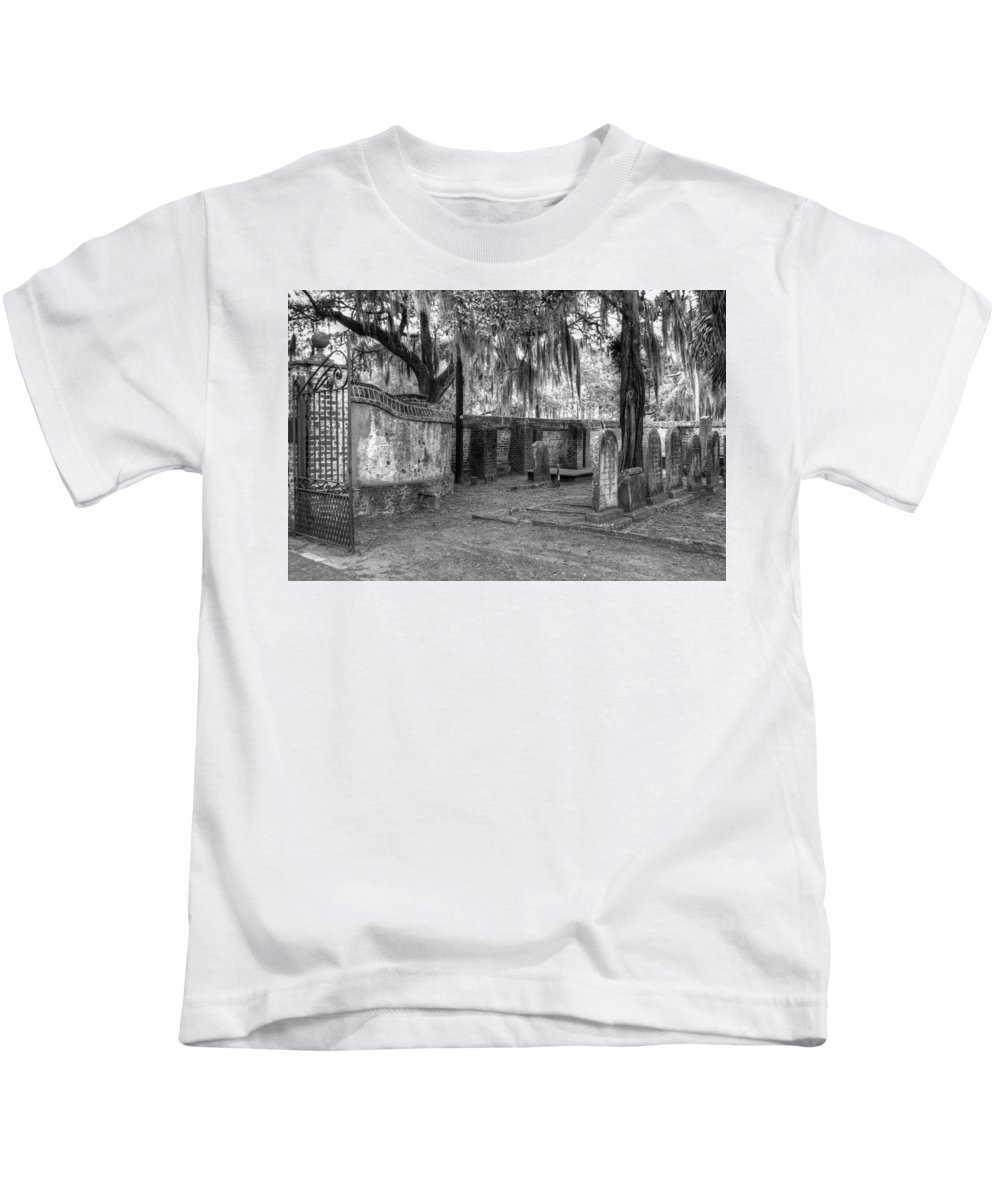 Cemetery Kids T-Shirt featuring the photograph Final Resting Place by Linda Covino