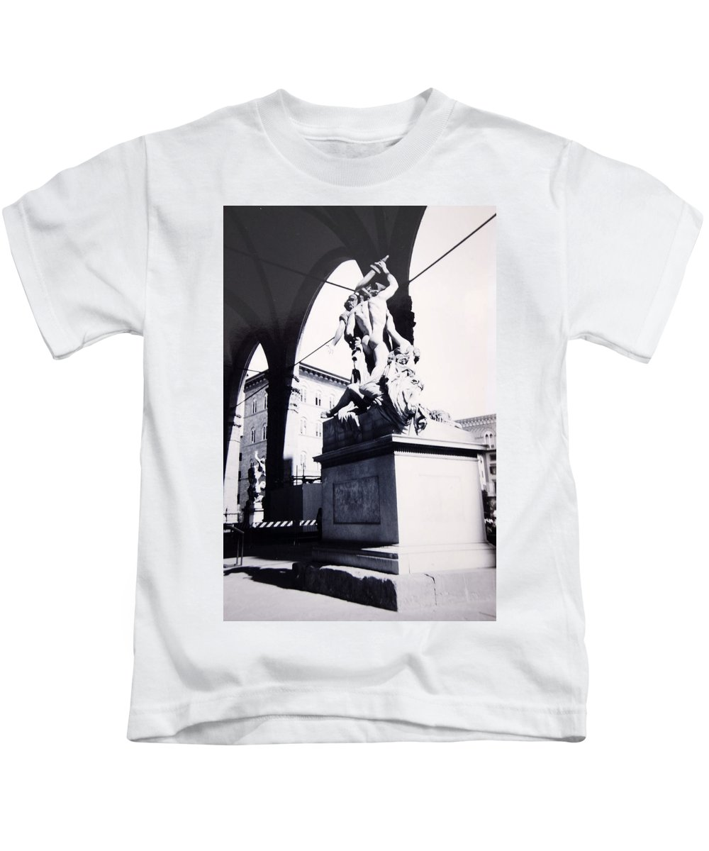 Firenze Kids T-Shirt featuring the photograph Florence by Kurt Hausmann