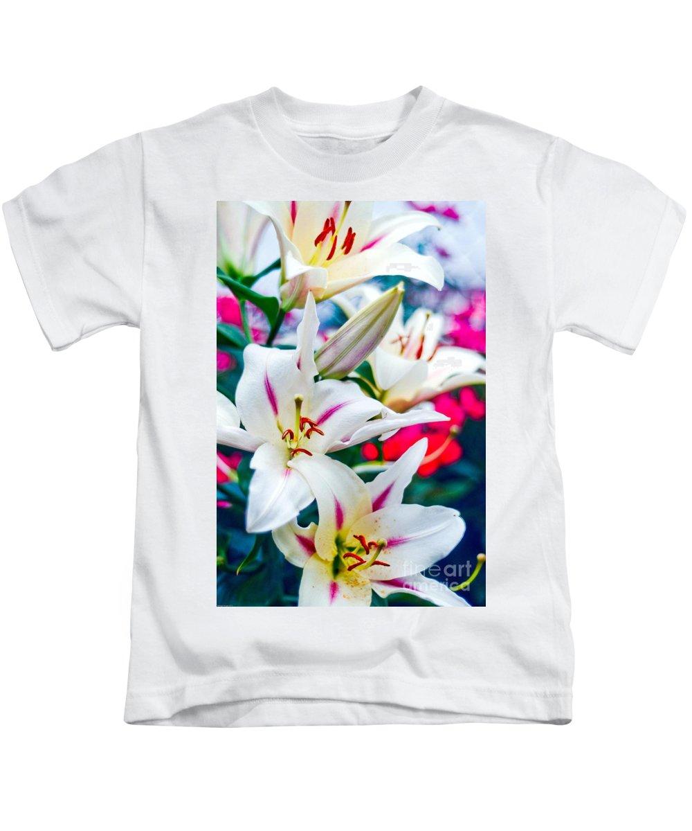 Spring Kids T-Shirt featuring the photograph Flower by Baltzgar