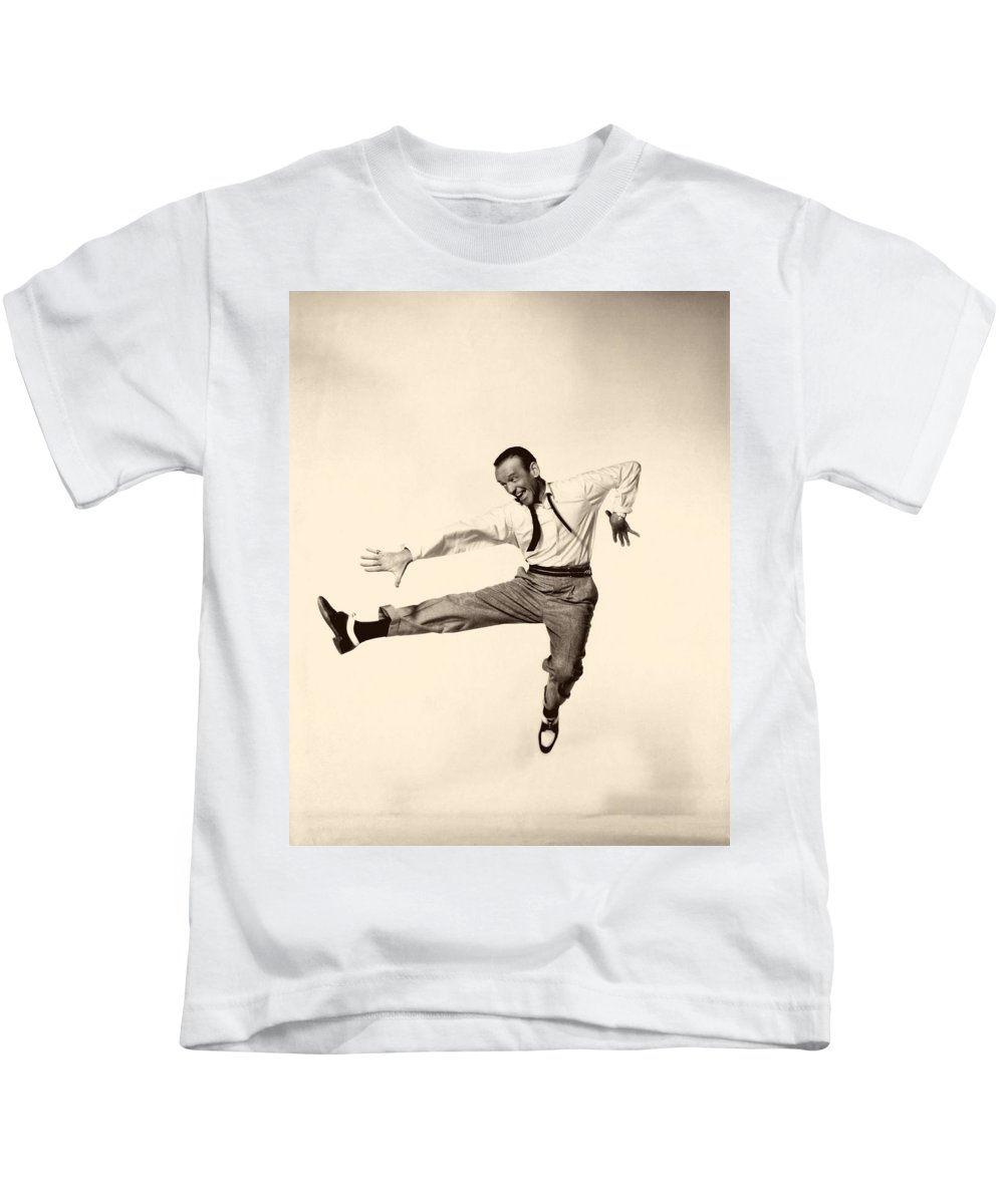 Publicity Photo Kids T-Shirt featuring the photograph Fred Astaire In Daddy Long Legs 1955 by Mountain Dreams