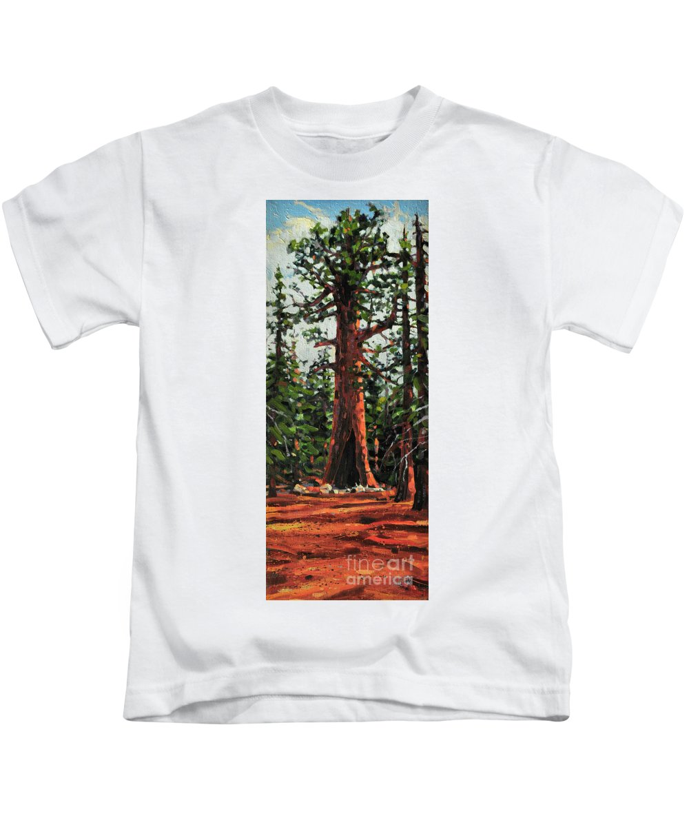 General Sherman Kids T-Shirt featuring the painting General Sherman by Donald Maier