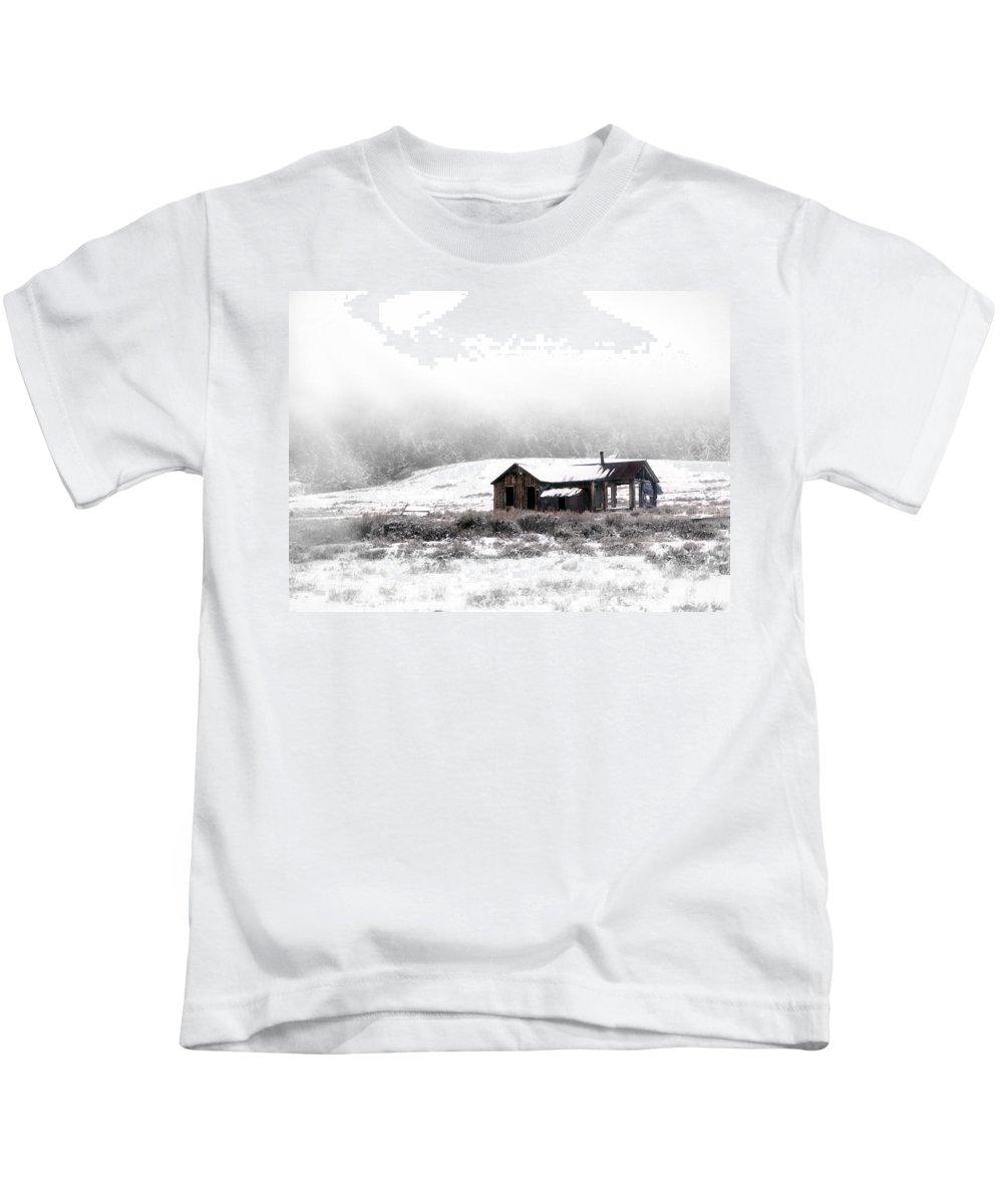 Cabin Kids T-Shirt featuring the photograph Ghost Town by Leland D Howard