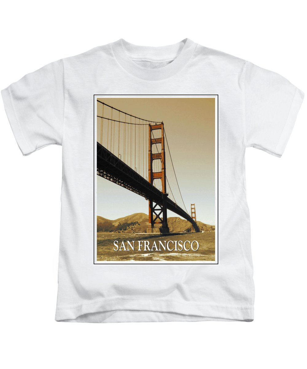 San+francisco Kids T-Shirt featuring the photograph Golden Gate Bridge San Francisco Poster by Peter Potter