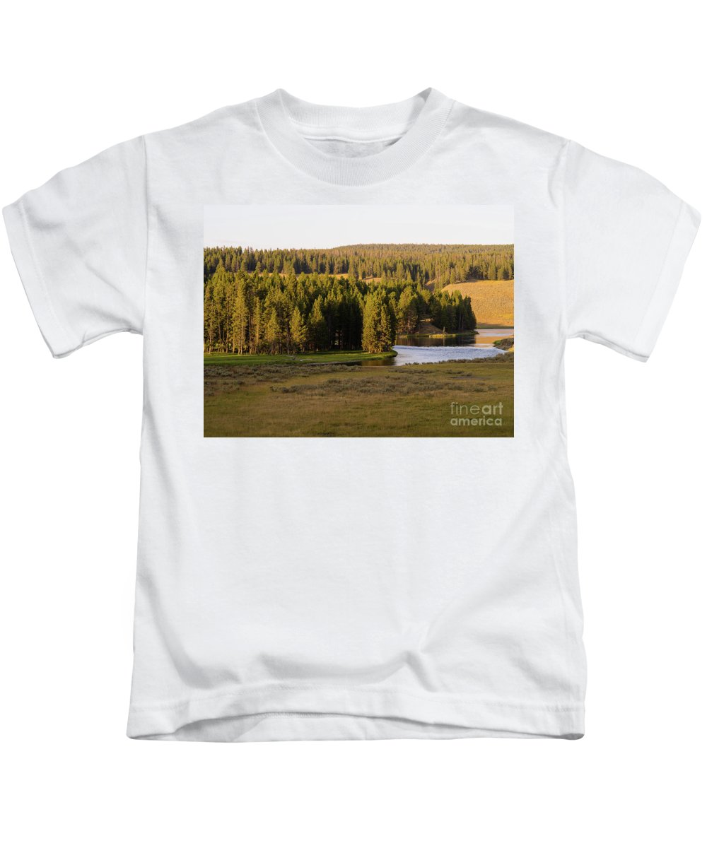 Wyoming Kids T-Shirt featuring the photograph Hayden Valley 2 by Tracy Knauer