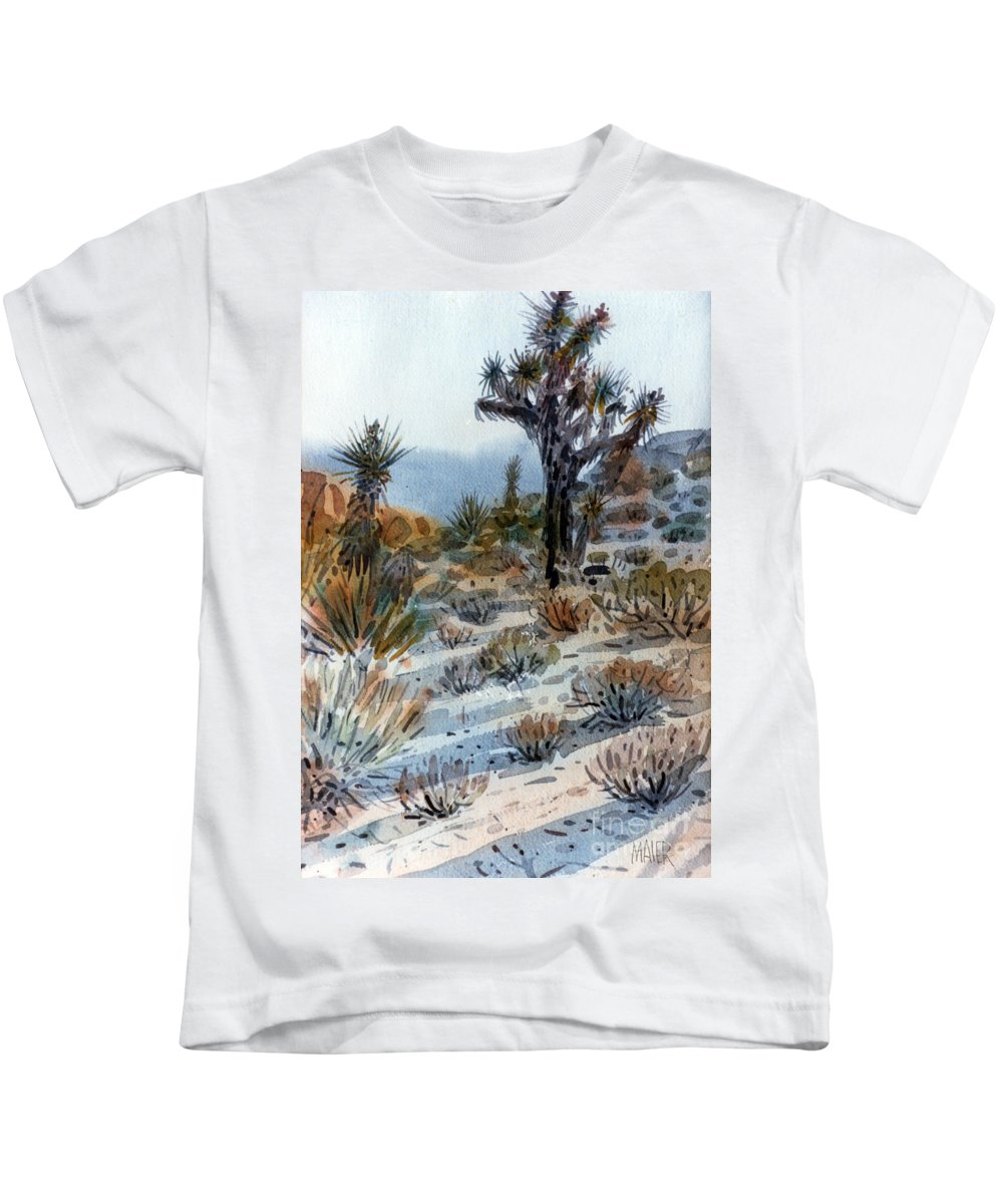Joshua Tree Kids T-Shirt featuring the painting Joshua Tree by Donald Maier