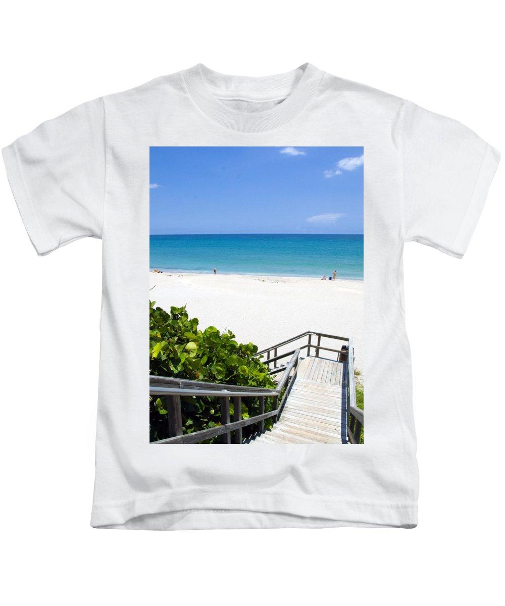Juno; Florida; Loxahatchee; River; Jupiter; Inlet; Swim; Swimming; Children; Girl; Boy; Woman; Man; Kids T-Shirt featuring the photograph Juno Beach Florida by Allan Hughes