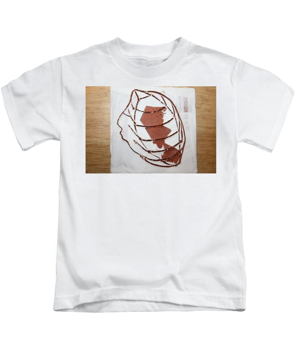 Jesus Kids T-Shirt featuring the ceramic art Kernel - Tile by Gloria Ssali
