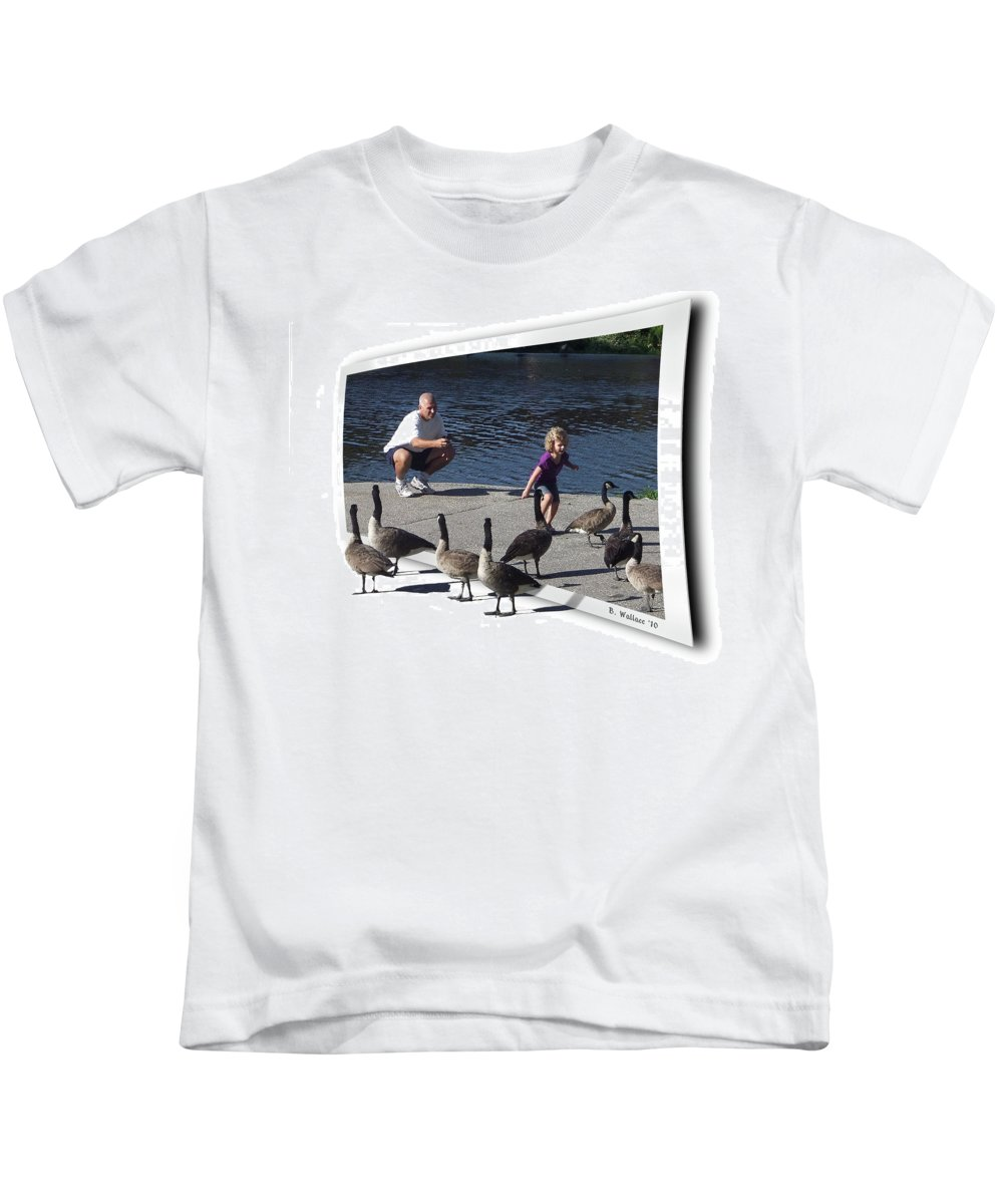 2d Kids T-Shirt featuring the photograph Kids Will Be Kids by Brian Wallace
