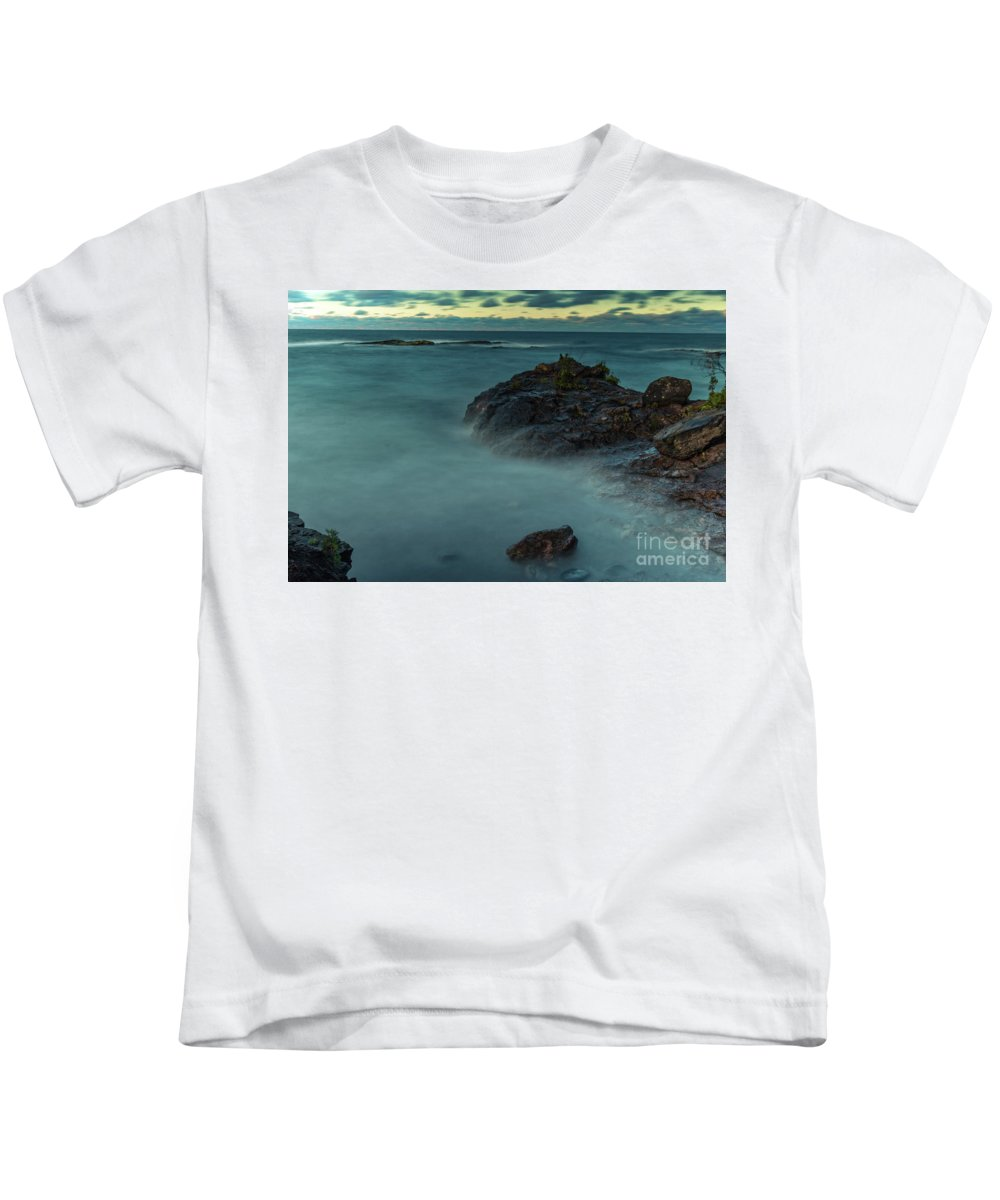 Water Kids T-Shirt featuring the photograph Lake Superior by Upper Peninsula Photography