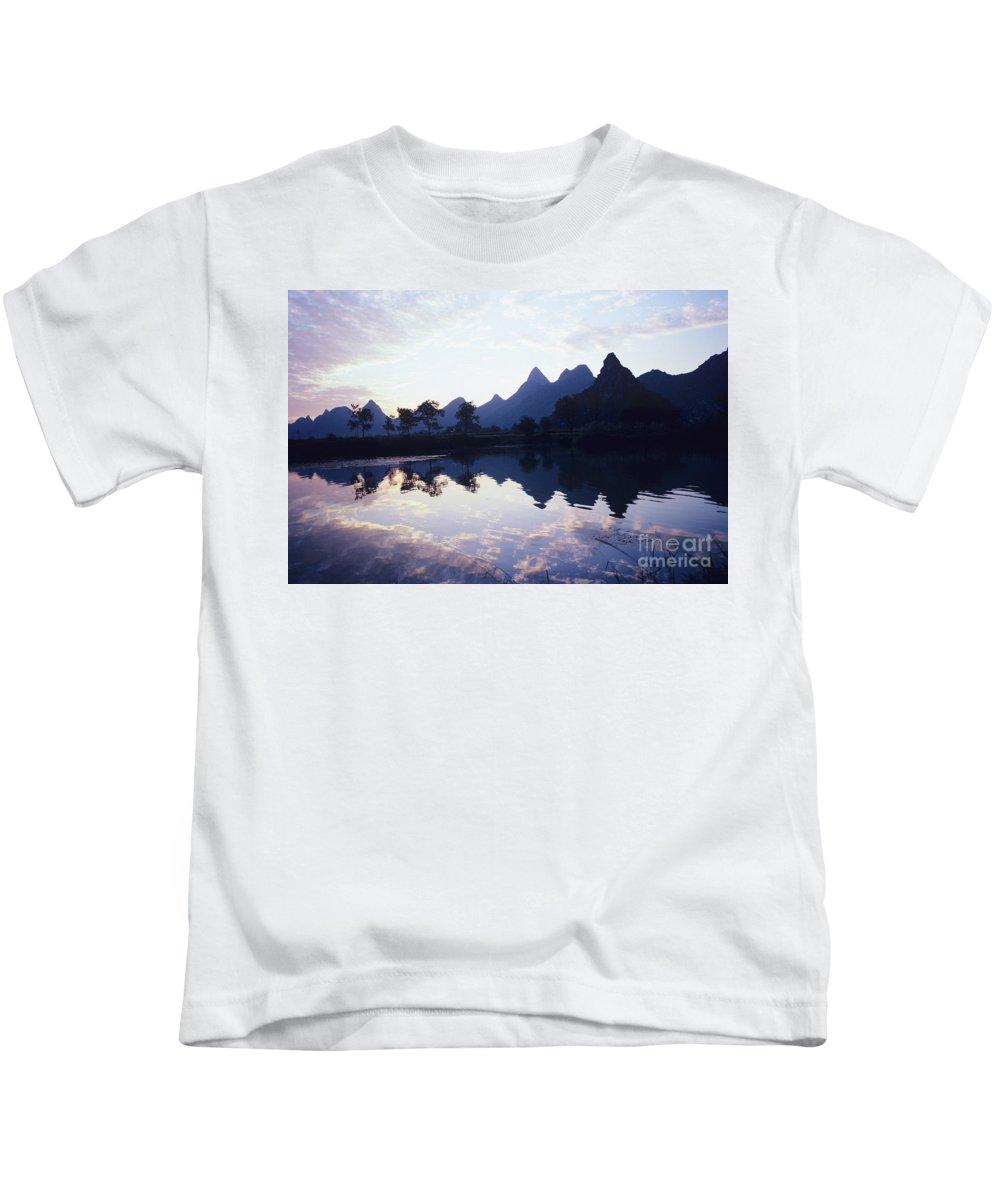 Asian Art Kids T-Shirt featuring the photograph Li River by Rita Ariyoshi - Printscapes