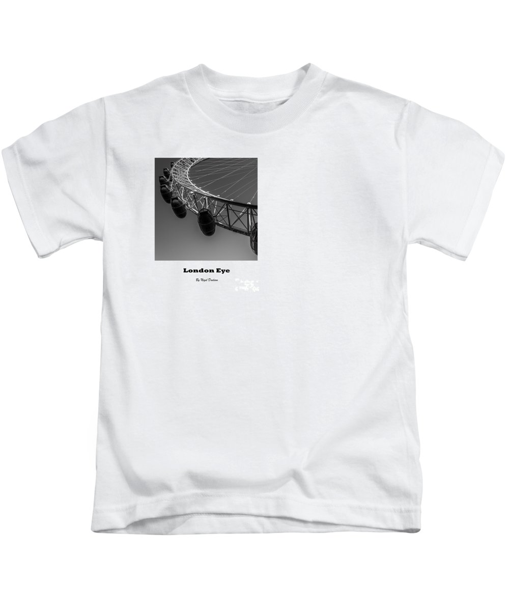 London Kids T-Shirt featuring the photograph London Eye, London, Uk. by Nigel Dudson